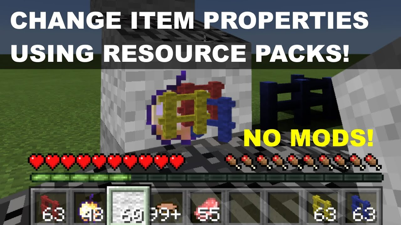 Use Resource Packs To CHANGE ITEM PROPERTIES In PocketWin Edition - Minecraft texture pack item namen andern
