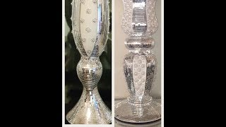 Wedding Vlog: Stunning Mirror Tiled Wedding Vases!