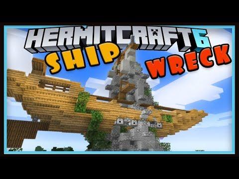 Hermitcraft Season 6: Shipwreck Rock Build!  (Minecraft 1.13 survival let's play Ep.7)