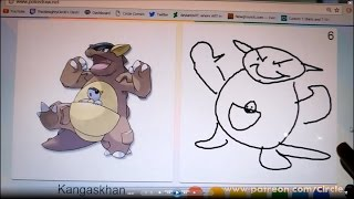 45 Second Pokemon Drawing - Kangaskhan