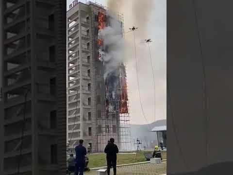 Drones ajudando na emergência apagando incêndio - YouTube