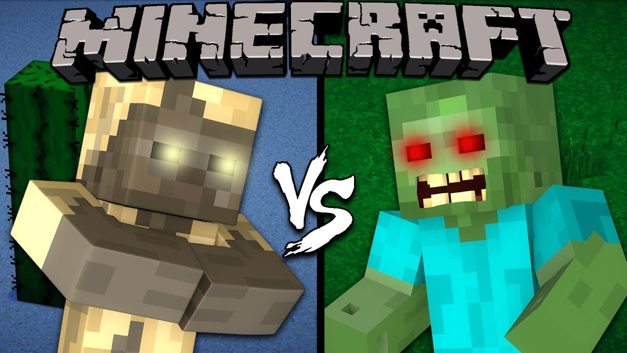 Husk vs  Zombie - Minecraft
