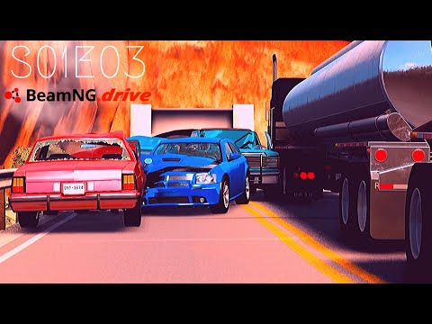 Beamng Drive: Seconds From Disaster (+Sound Effects) |Part 3| - S01E03