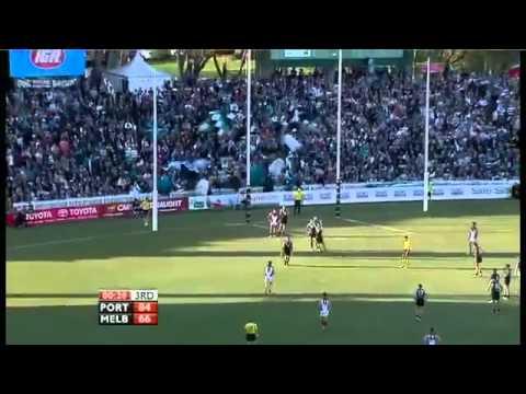 First ever AFL match at Adelaide Oval - Port Adelaide V Melbourne highlights Round 24 2011