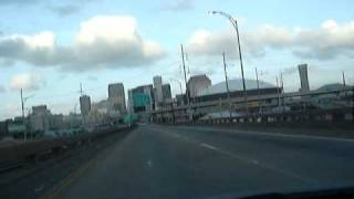 passing the louisiana superdome in new orleans