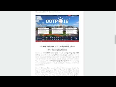 OOTP 18 Discussion with Developer Matt Arnold