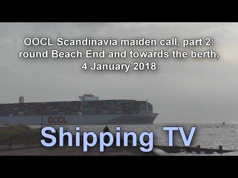 OOCL Scandinavia maiden call, part 2: 4 Jan 17
