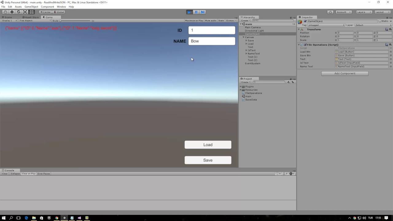 Unity3D: Read, Write JSon File