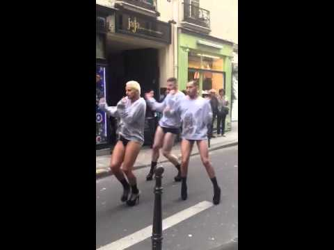 Gay Paris street dancers!