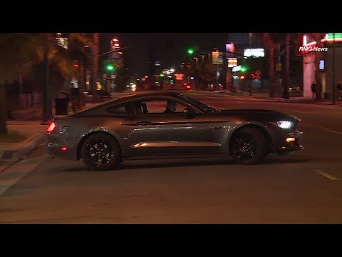 Young man caught on camera stealing a Mustang from a Ford Dealership in North Hollywood, California.