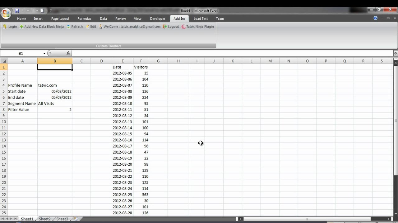 Dynamic Data Block Using Excel Cell Reference In Tatvic Excel Add In