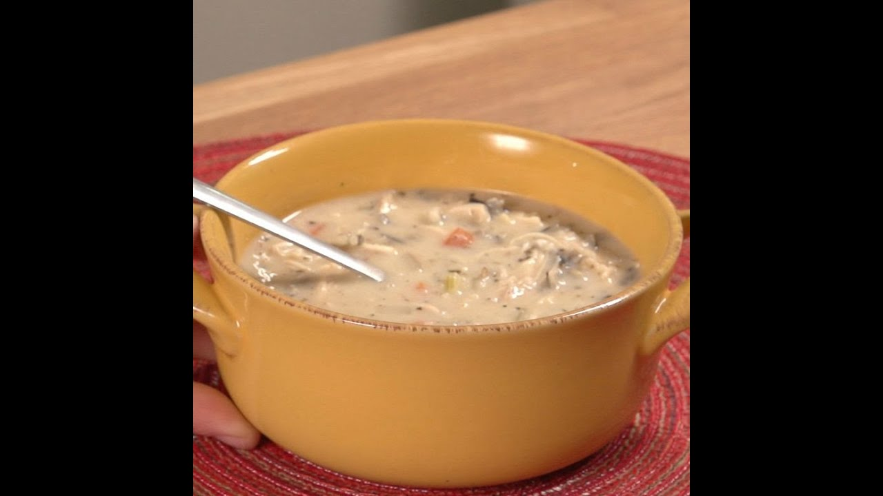 Creamy Chicken Wild Rice Soup Youtube