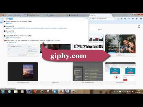 كيفية رفع صورة متحركة   gif على الفيس بوك Face Book