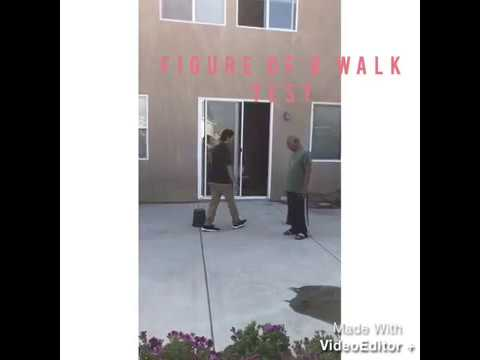 Figure of 8 Walk Test (Geriatric Physical Therapy Test)