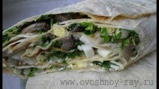 Закуска из лаваша  (с колбасой и сыром)