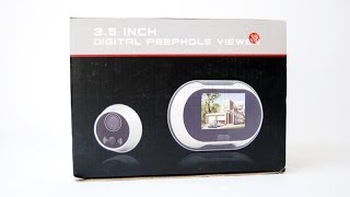 Door peephole with a large screen  - SPY.EU