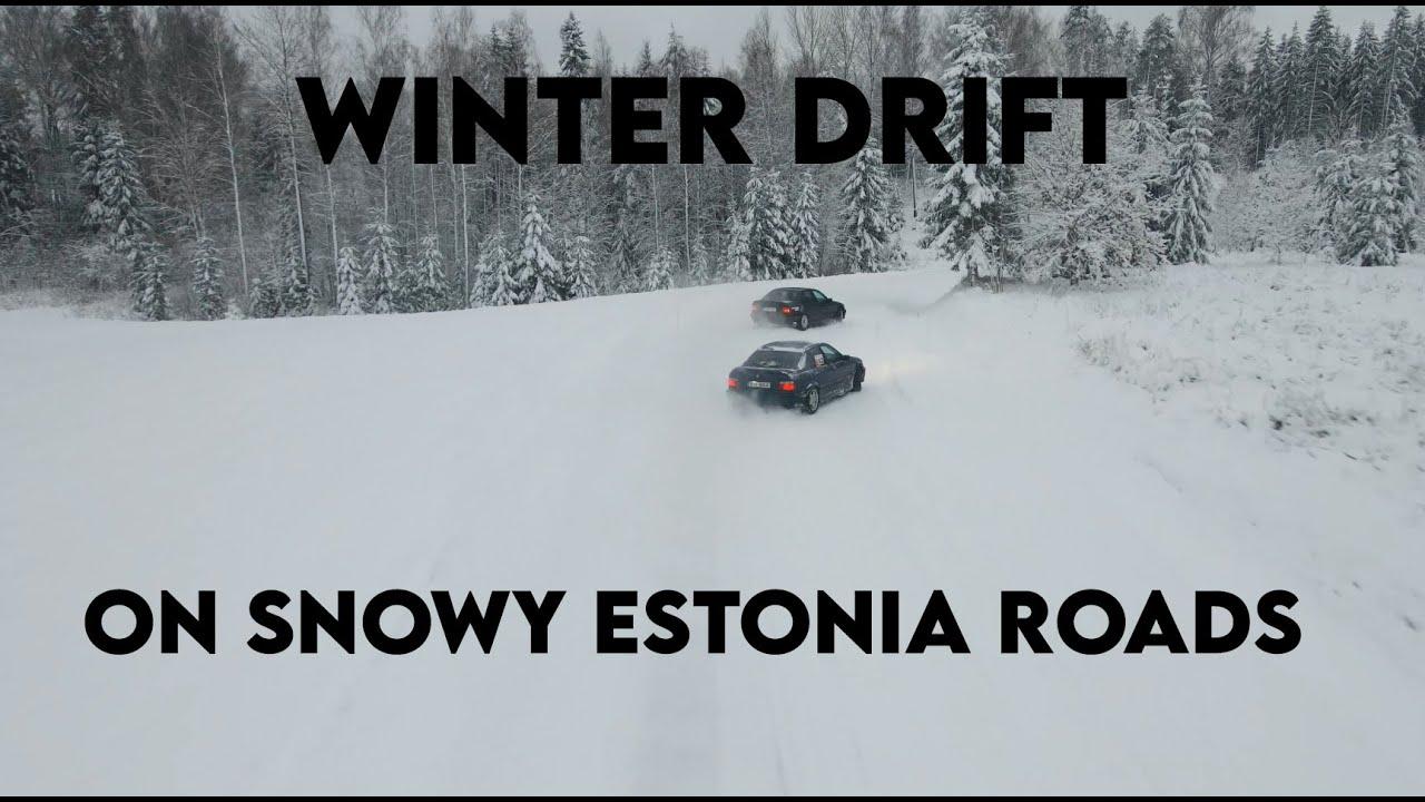 l LASTNIGHTFUN l DRIFTING ON SNOWY ESTONIAN BACKROADS! ENGLISH SUB!