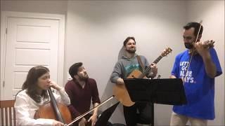 Persian cover -Ghesseye Eshgh by Ebi ( violin, guitar, cello , cajon )