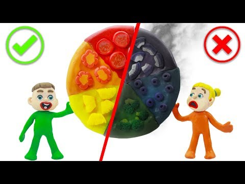SUPERHERO BABIES MAKING PIZZA NEW RAINBOW COLORS 💖 Play Doh Cartoons For Kids