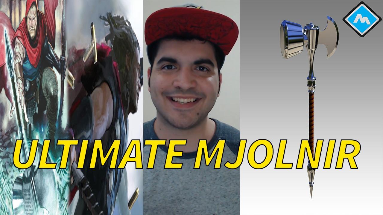 thor wields ultimate mjolnir in infinity war?! - youtube