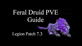 [WoW] Feral Druid PVE Guide Legion 7.3