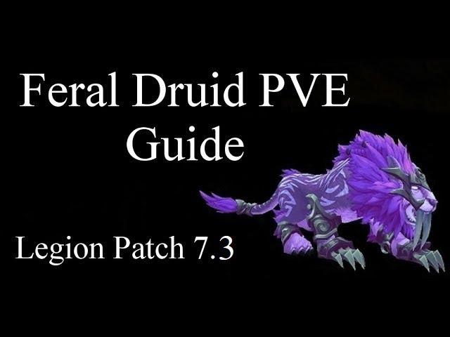 Wow Feral Druid Pve Guide Legion 7 3 Youtube