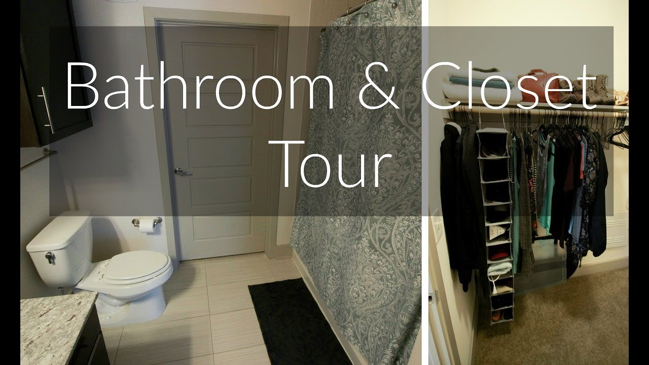Minimalist Bathroom U0026 Closet Tour | Studio Apartment