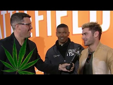 Jamie Foxx and Zac Efron Stoned At E3 2016 (Before Playing Battlefield 1)