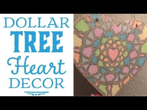 Dollar Tree Heart Wall Decor DIY