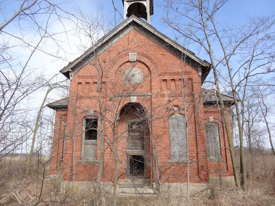 Abandoned indiana one room school house from 1895 youtube - The house in the abandoned school ...