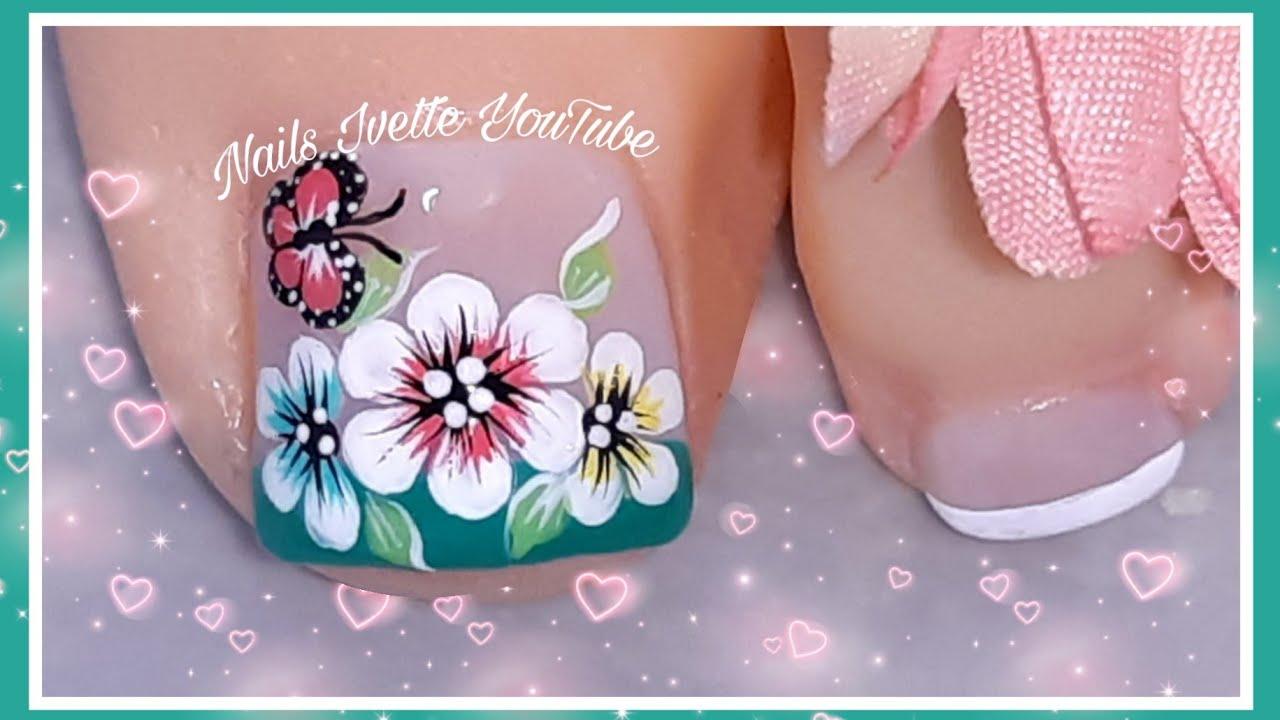 Decoración De Uñas Para Pies Flor By Nails Ivette