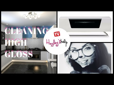 Cleaning High Gloss Kitchen Cabinets  & Furniture Surfaces - CLEAN WITH ME