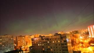 Северное (полярное) сияние в Москве 17.03.2015