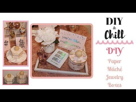DIY Paper Mâché Jewelry Boxes