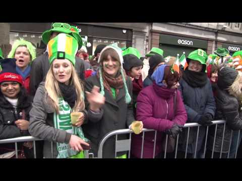 Colorado State University Marching Band in Dublin for St. Patrick's Day 3-17-13