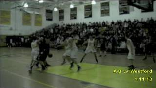 Acton Boxborough Varsity Boys Basketball vs Westford 1/11/13
