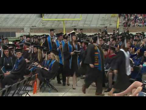 Protesting Notre Dame students walk out of Pence's commencement speech