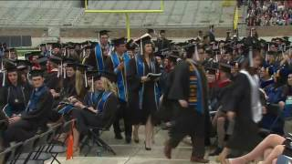 Notre Dame students walk out in protest as Pence gives commencement speech
