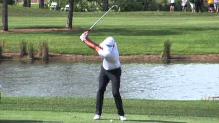 Adam Scott Golf Swing Video -- 2014, Face On View, 300fps Slow Motion, 1080p Hd, Iron