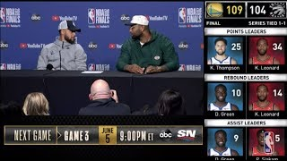 Stephen Curry & DeMarcus Cousins Press Conference | NBA Finals Game 2
