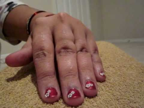 Christmas Easy Nail Designs For Short Nails Youtube