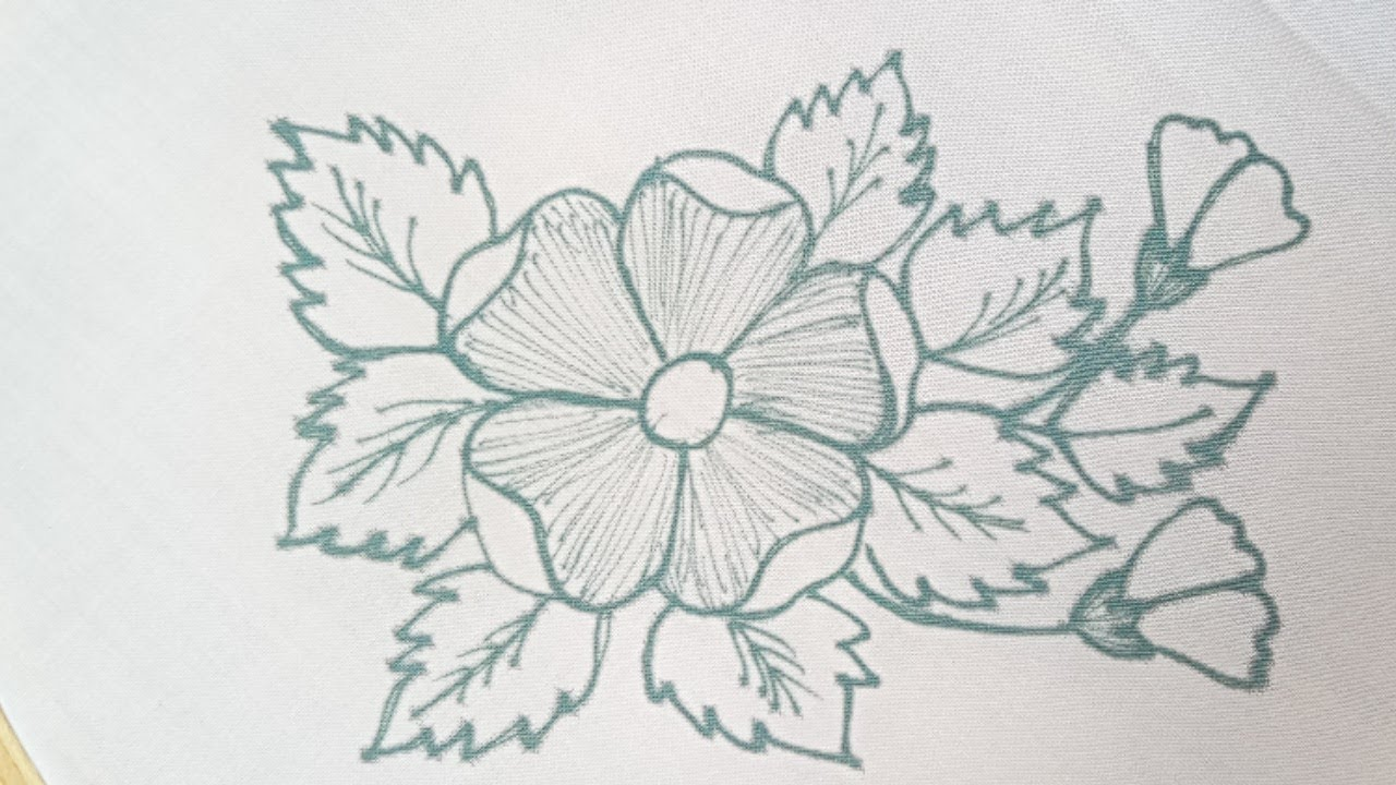 Very easy and beautiful hand embroidery Flower design - easy hand embroidery flower stitches