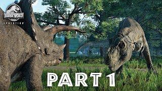 Jurassic World Evolution Walkthrough Part 1 - DINOSAUR PARK | PS4 Pro Gameplay