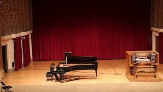 Aaron Xu, age 8, First Prize. Birds - Seymour Bernstein. Qian Yoyo Liu Piano Studio
