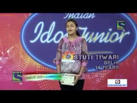 STUTEE TIWARI IN PROMO OF INDIAN IDOL JUNIOR 2013