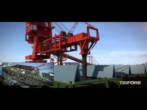 Large transport storage yard animation(3D)
