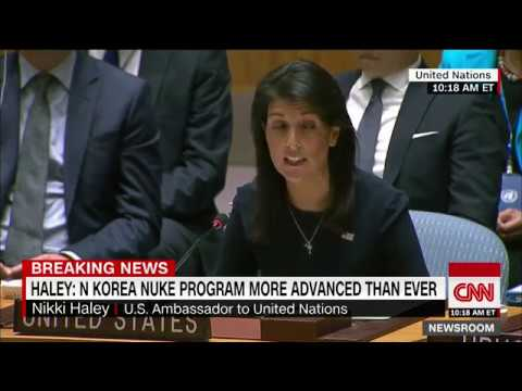 Haley: Kim Jong Un 'begging for war'