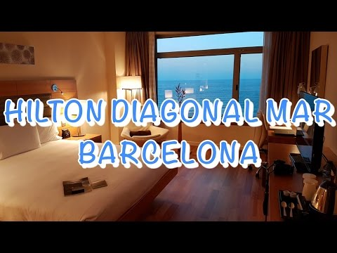 HILTON DIAGONAL MAR BARCELONA Hotel Room Tour | JoyDellaVita