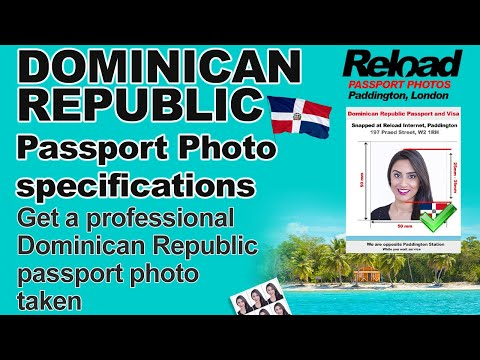 Get your Dominican Republic Passport Photo and Visa Photo snapped in Paddington