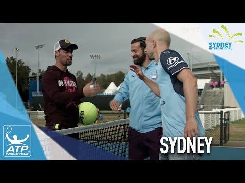 Fabio The Football Star Fognini Meets Sydney FC Players 2018
